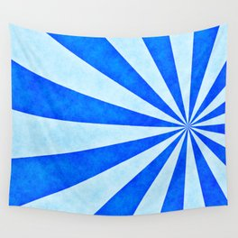 Blue sunburst Wall Tapestry