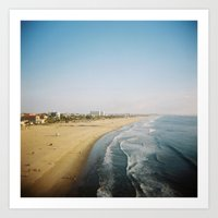 santa monica Art Prints featuring Santa Monica by RJ Del