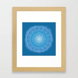VISHUDDA Boho mandala Framed Art Print