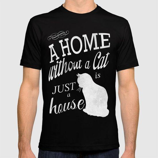 Home with Cat T-shirt