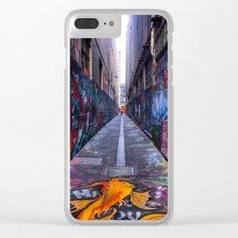 Union Lane Graffiti Clear iPhone Case