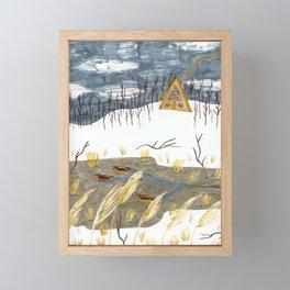 A-Frame Home in the Woods Framed Mini Art Print
