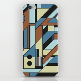 De Stijl Abstract Geometric Artwork 3 iPhone Skin