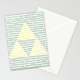 Wisdom Power Courage Stationery Cards