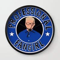 fangirl Wall Clocks featuring Professional Fangirl by BethTheKilljoy
