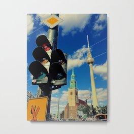 Berlin mit Fernsehturm Metal Print