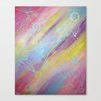 equality Canvas Prints featuring EQUALITY by Valentinas Vanity Artwork