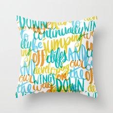 ...JUMPING OFF CLIFFS Throw Pillow