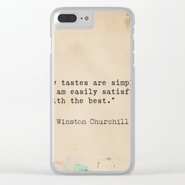 Winston S. Churchill 25 quote Clear iPhone Case