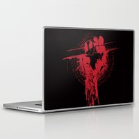 daredevil Laptop & iPad Skins featuring daredevil and braille quote: It's not how you hit the Mat it's how you get back up by Ryan Huddle House of H
