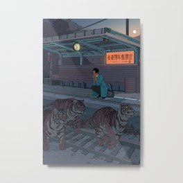 Tiger Station Metal Print