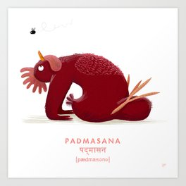 Padmasana Chicken Yoga Art Print