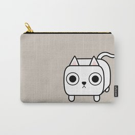 Cat Loaf - White Kitty Carry-All Pouch