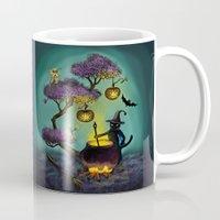 halloween Mugs featuring Halloween by Anna Shell