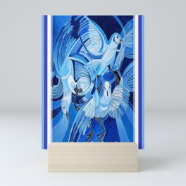 Peace On Earth Greetings With Doves  Mini Art Print