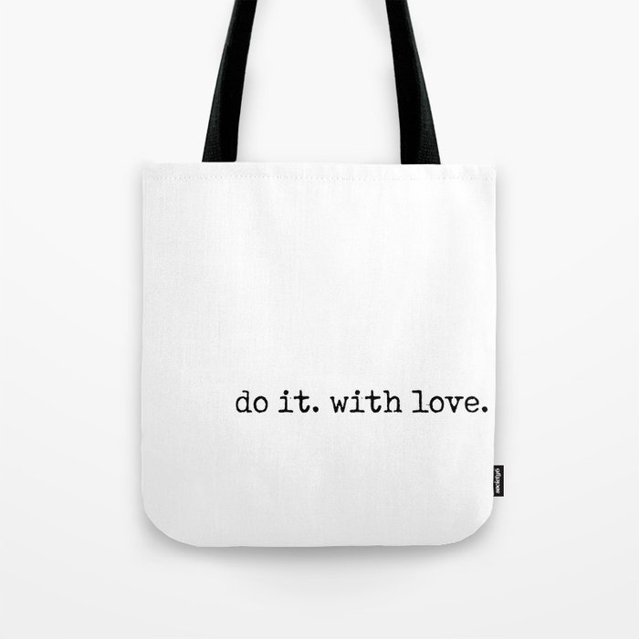 Do i. With Love. Typewriter Style Tote Bag