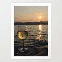 Traminette in the Sunset Art Print