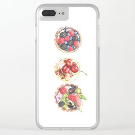 Three berry tarts Clear iPhone Case