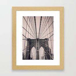 Brooklyn in Pink Framed Art Print