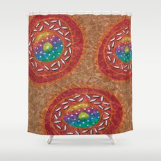 Orange Organism Shower Curtain