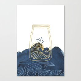 Bottled Sea Canvas Print