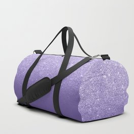 Modern ultra violet faux glitter ombre purple color block Duffle Bag