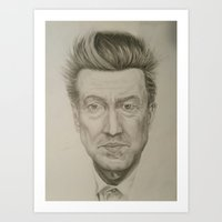 david lynch Art Prints featuring David Lynch by Daniela