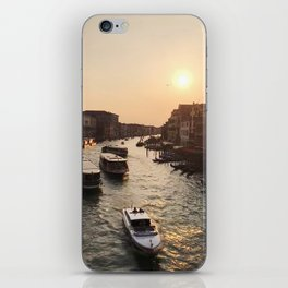 A Morning In Venice at Ponte di Rialto iPhone Skin