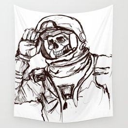 Skeleton Astronaut Wall Tapestry