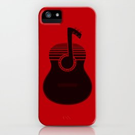 Classical Notes RED iPhone Case