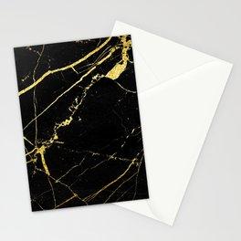 Black-Gold Marble Impress Stationery Cards