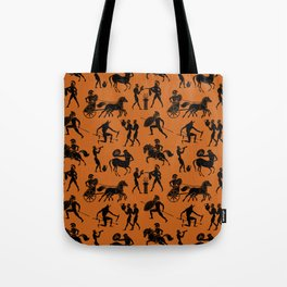 Greek Figures // Dark Orange Tote Bag