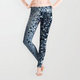 Sparkling Blue Lady Glitter #1 #shiny #decor #art #society6 Leggings