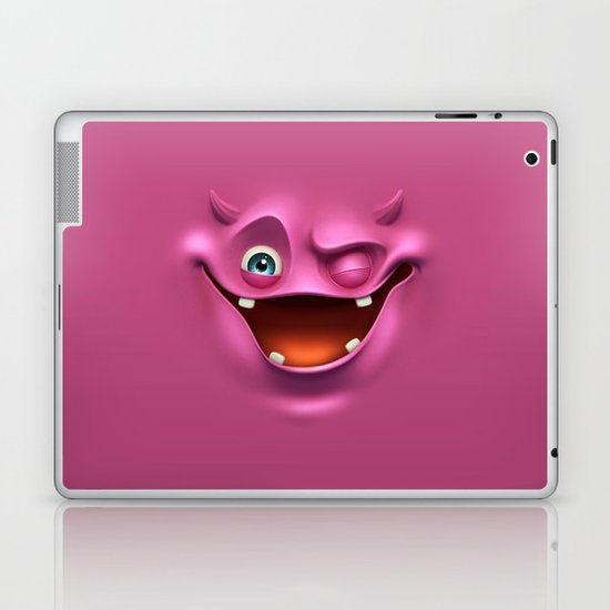 Winking face Laptop & iPad Skin