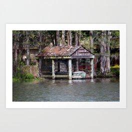 Canoe Shed Art Print