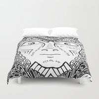 warrior Duvet Covers featuring Warrior by Ommou