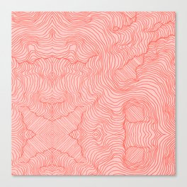 Living Coral Lines Canvas Print