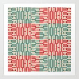 Bosque Green&Red Art Print