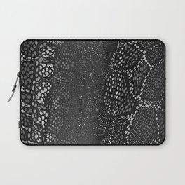 Black Snake Skin Laptop Sleeve