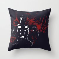 spawn Throw Pillows featuring Spawn by Timothy Wood