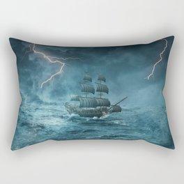 ghost storm ship Rectangular Pillow