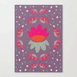Folk Flower 1 Canvas Print
