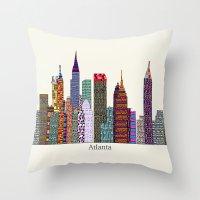 atlanta Throw Pillows featuring Atlanta city  by bri.buckley