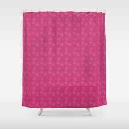 flowers on magenta Shower Curtain