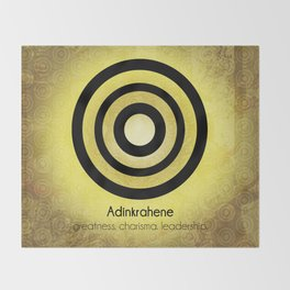 Adinkrahene - Adinkra Art Poster Throw Blanket