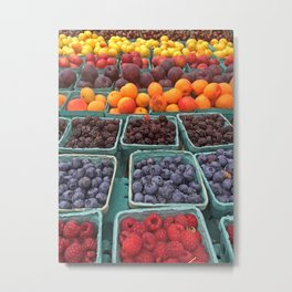 Fruit Stand Farmers Market Metal Print