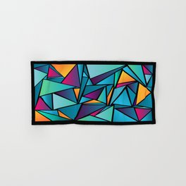 Triangles of Colors Hand & Bath Towel