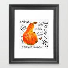 Watercolor pumpkin Framed Art Print