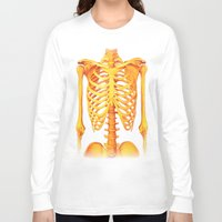 skeleton Long Sleeve T-shirts featuring Skeleton by ShannonPosedenti