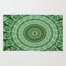 Green Stripes Kaleidoscope 11 Rug